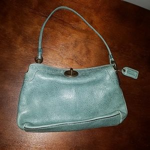 Coach Leather Wristlet with Adjustable Strap